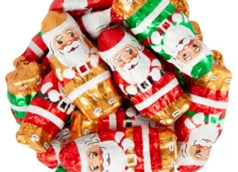 Milk Chocolate Foil Santa