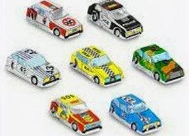 Small Chocolate Race Cars