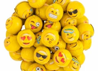 Milk Chocolate Foil Emojis