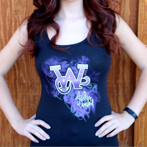 AW Logo Purple Smoke Tank (Lady's Cut)