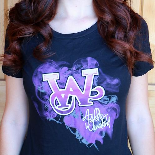 AW Logo Purple Smoke T-Shirt (Lady's Cut)