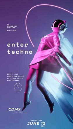 enter techno motoe haus round the clock