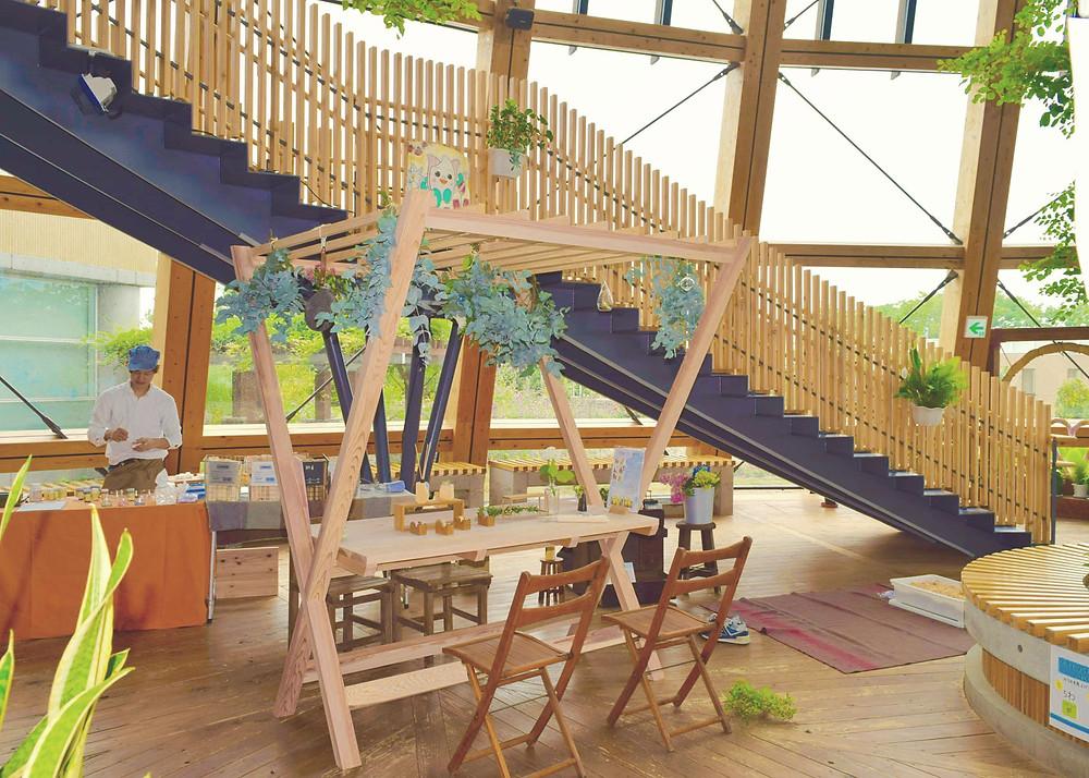 ラベンダーフェスタ 組立式屋台