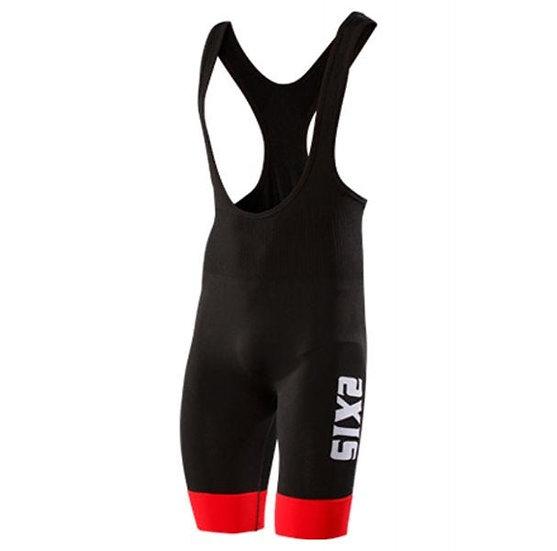 SIXS SLP Bibshorts Stripes Bibshort Black/Red