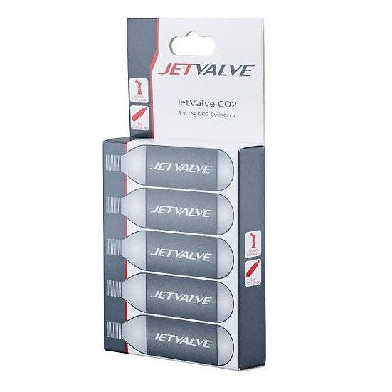 Jetvalve 16G C02 Refill Cylinders X5