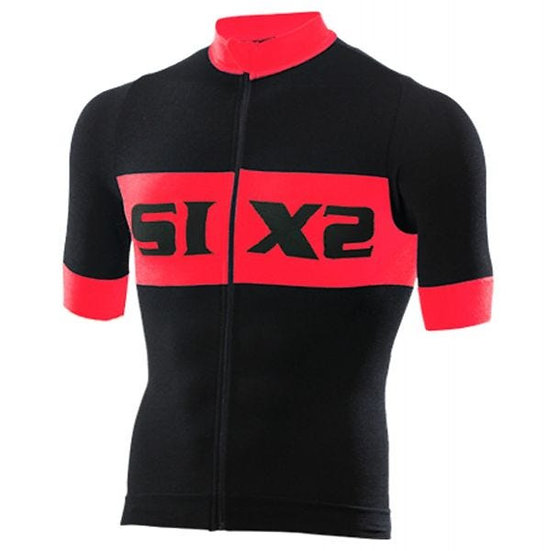 SIXS Bike 3 Luxury Short Sleeve Jersey Black/Red