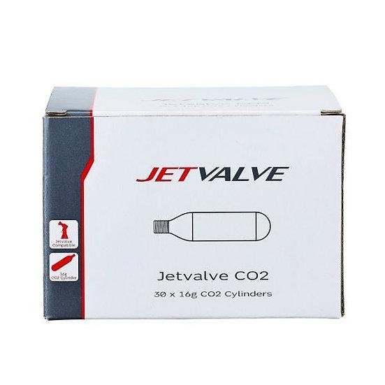 Jetvalve 16g C02 Refill Cylinders X30