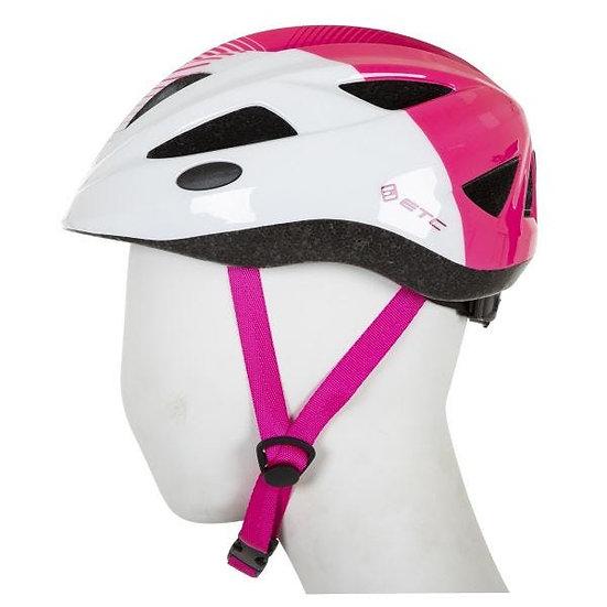 ETC J250 Junior Helmet White/Pink