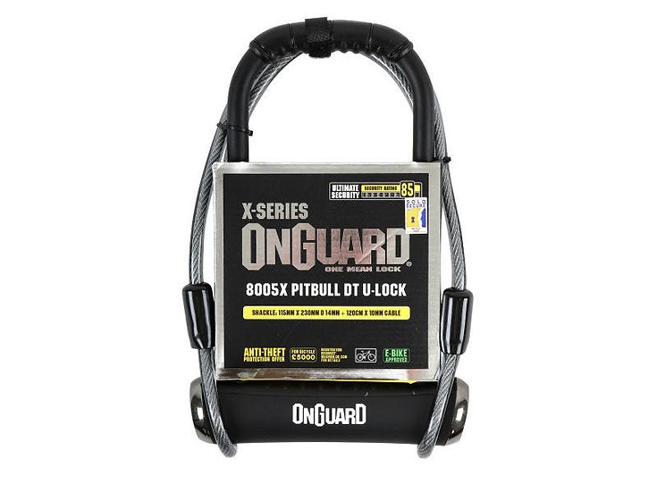 OnGuard X Pitbull DT 8005 U-Lock 115 X 230 X 14mm