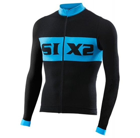 Bike 4 Luxury Long Sleeve Jersey Black/Blue