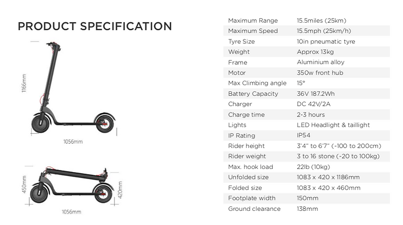 Decent X7 Product Specification