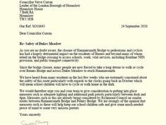HammersmithBridgeSOS Letter To Four Councils