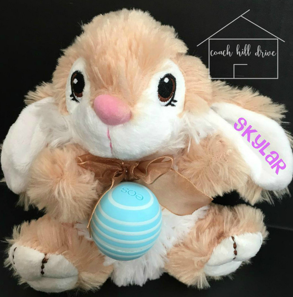 Personalized Plush Easter Bunny with EOS Balm