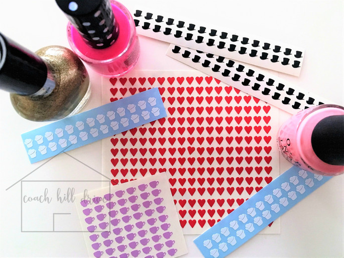 MAD HATTER NAIL DECALS