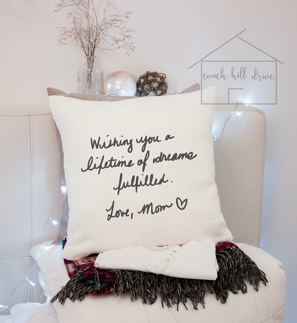 Custom Handwritten Note Pillow
