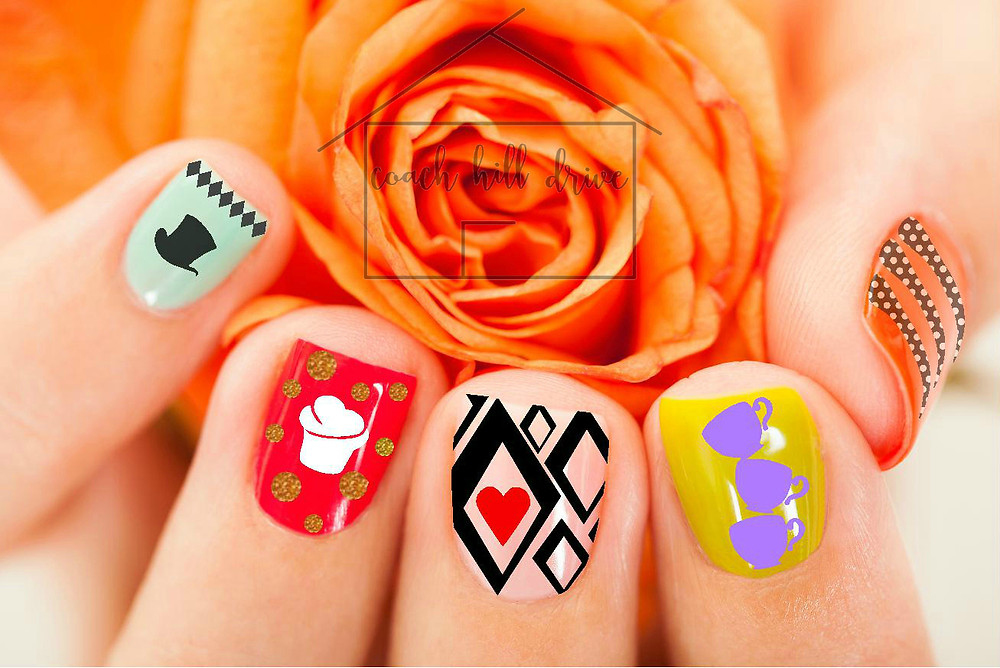 Mad Hatter Nail Art Decals