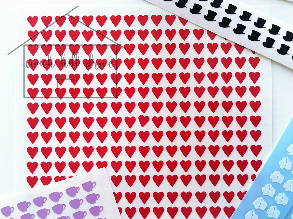 Mad Hatter Heart Nail Decals