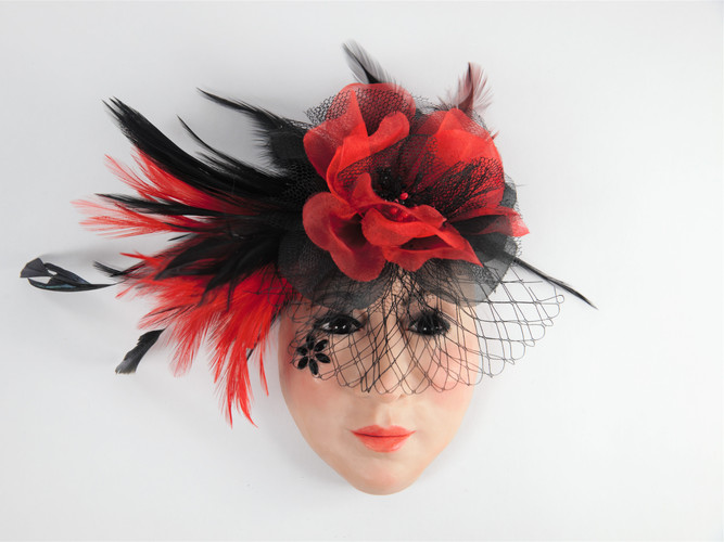 MY RED AND BLACK HAT