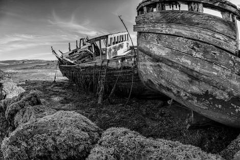 Fishing wrecks, Mull, Scotland