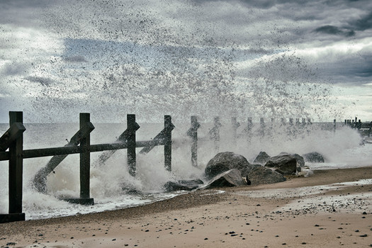Sea defences, Happisburgh, Norfolk