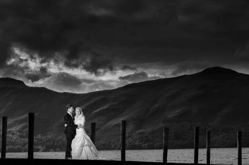 Newly weds in the Lake District