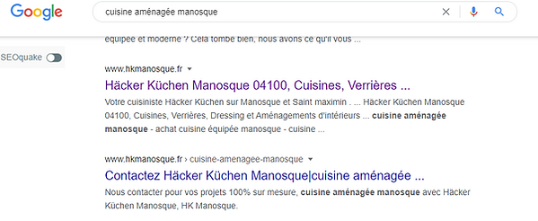 1 ere page google KH manosque grâce a alexandre m the frenchy