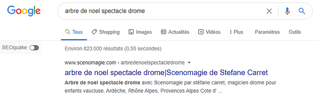 1 ere page google scenomagie grâce alexandre m the frenchy