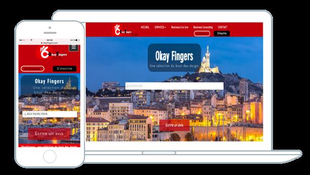 """Professionnels, votre site internet""""one page"""" Gratuit* avec OkayFingers, alors contactez-nous !"""