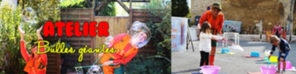 Animations bulles géantesavec La compagnie Lune à l'autre Spectacle familial, spectacle de clown Vaucluse spectacle pour entreprises dans la Drome, bouches du rhone, Gard