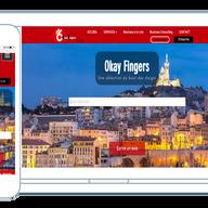 Le site internet et la version mobile de OkayFingers