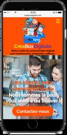 Créaboxdigitale version mobile