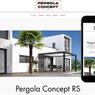 Pergola Concept RS vente pergola bioclimatique télécommandée configuration colorée sur mesure, éclairage led, capteur de vent et pluie à Toussieu  69780