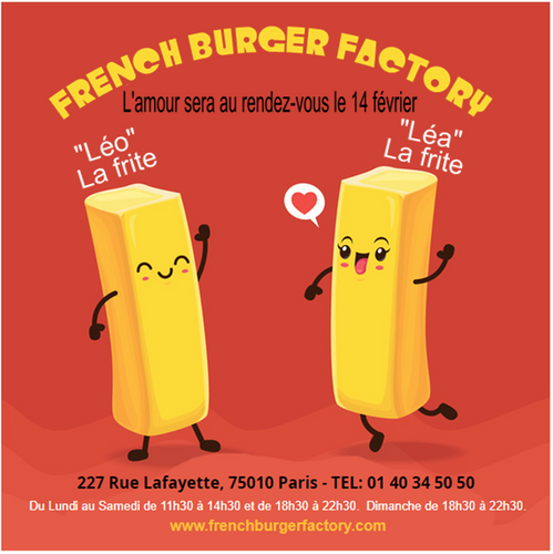 French Burger factory st valentin 2019