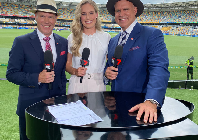 Test Series Commentator with Channel 7