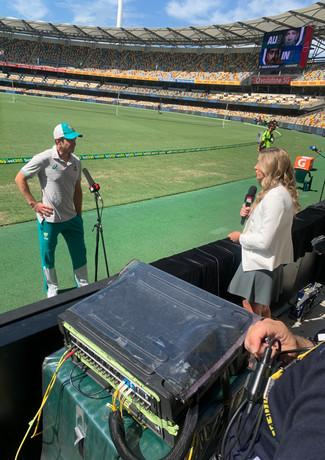 Interviewing Australian Captain Tim Paine
