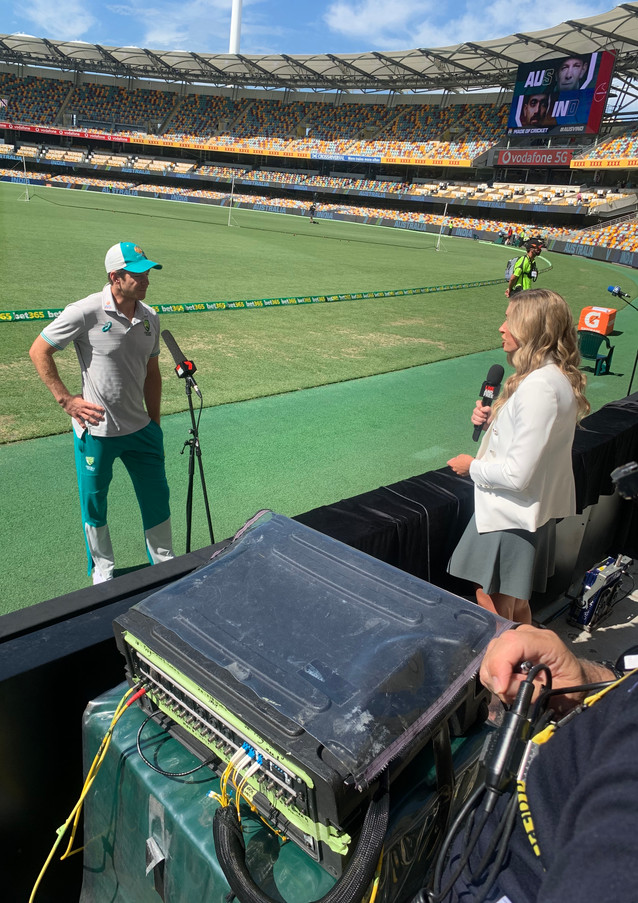 Interviewing Australian Captain Tim Paine