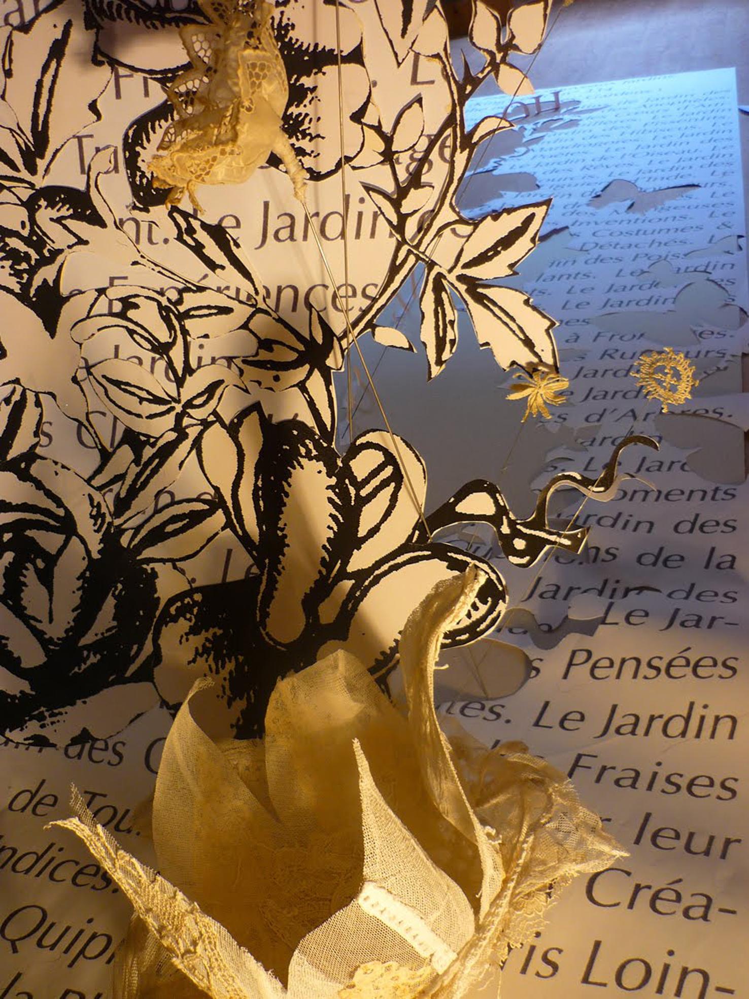 jardin papier fleurs en tissus - copie