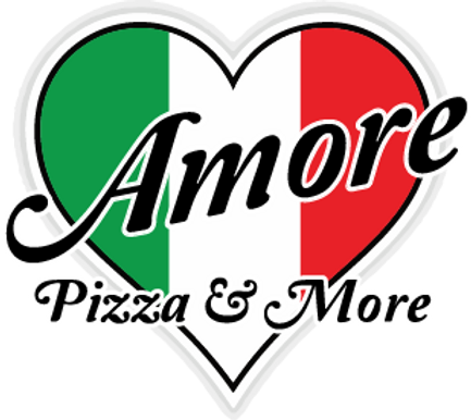 Amore Pizza and More Liverpool NY Pizza Shop Logo