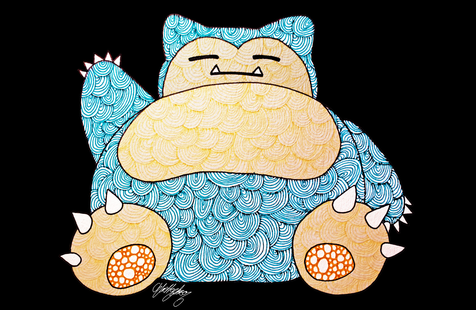 7. Exhausted Snorlax