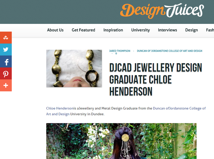 DJCAD Jewellery Design Graduate