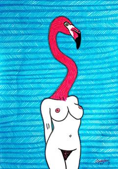 Flamingo Woman