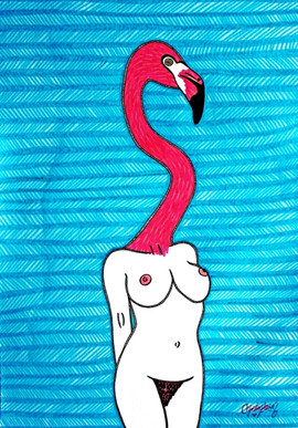 Flamingo Lady