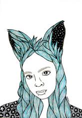Blue-Wolf Girl