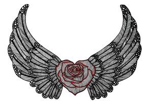 Winged Birthday Rose