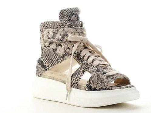 Open Toe Snakeskin Sneaker
