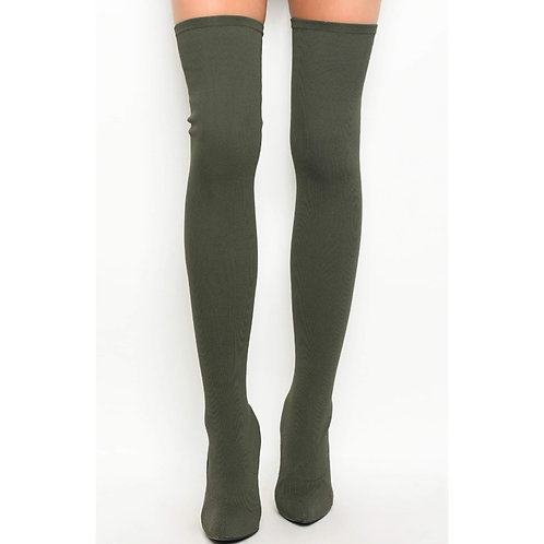 Olive Green Thigh Highs