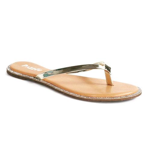 Gold Sparkle Flip Flops
