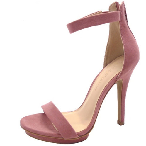Blush Open Toe Stilleto