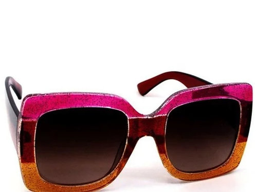 Tri-Color Sparkle Sunglasses