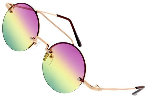 Small Round Multi Color Sunglasses
